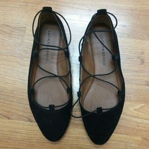 LUCKY BRAND Black Suede Sandals - 7